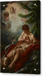 Saint John The Baptist Acrylic Print by Francois Boucher