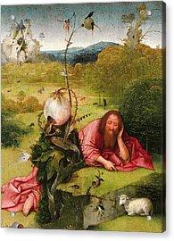 Saint John The Baptist In The Desert Acrylic Print by Hieronymus Bosch