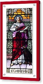 Saint John The Evangelist Stained Glass Window Acrylic Print by Rose Santuci-Sofranko