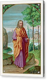 Saint Joseph Husband Of Mary, And Acrylic Print by Mary Evans Picture Library