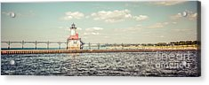 Saint Joseph Lighthouse Retro Panorama Photo Acrylic Print