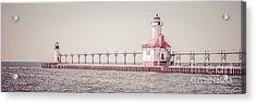 Saint Joseph Michigan Lighthouse Panorama Picture  Acrylic Print