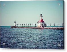 Saint Joseph Michigan Lighthouse Retro Picture  Acrylic Print