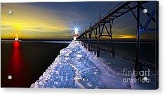 Saint Joseph Pier And Light Acrylic Print by Twenty Two North Photography
