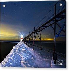 Saint Joseph Pier In Evening Acrylic Print by Twenty Two North Photography