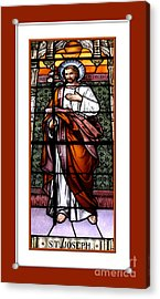 Saint Joseph  Stained Glass Window Acrylic Print