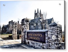 Saint Josephs University Acrylic Print by Bill Cannon