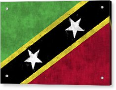 Saint Kitts And Nevis Flag Acrylic Print