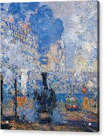 Saint Lazare Station Acrylic Print by Claude Monet
