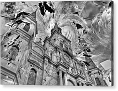 Acrylic Print featuring the photograph Saint Louis Cathedral And Spirits by Ron White