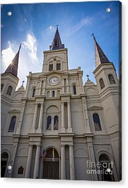 Saint Louis Cathedral Entrance Acrylic Print by Inge Johnsson