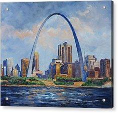 Saint Louis Skyline 2 Acrylic Print by Irek Szelag
