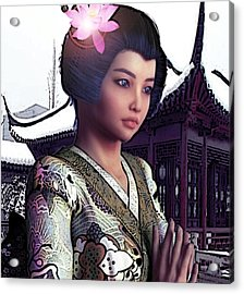 Saint Lucy Yi Zhenmei   Lotus Of China Acrylic Print