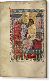 Saint Luke Unknown Byzantine Empire Early 13th Century - Acrylic Print by Litz Collection