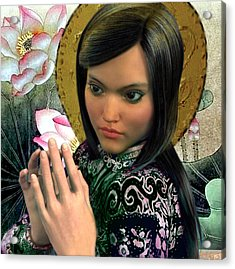 Acrylic Print featuring the painting Saint Magdalene Of Nagasaki by Suzanne Silvir