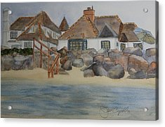 Saint Malo Beach House Acrylic Print by Jan Cipolla