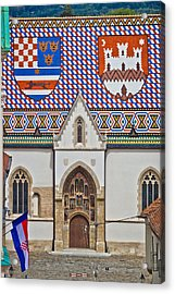 Saint Mark Church Facade Vertical View Acrylic Print
