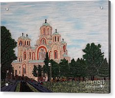 Saint Marko Church  Belgrade  Serbia  Acrylic Print by Jasna Gopic