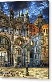 Acrylic Print featuring the photograph Saint Marks Square by Jerry Fornarotto