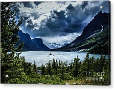 Saint Mary Lake Acrylic Print by Jim McCain