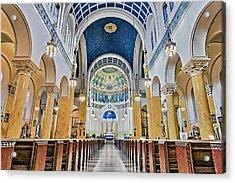 Saint Mary's Altar Acrylic Print by Susan Candelario