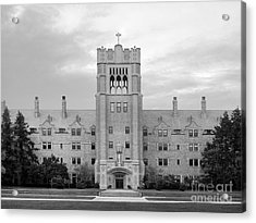 Saint Mary's College Le Mans Hall Acrylic Print by University Icons