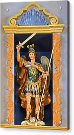 Saint Michael The Archangel Acrylic Print by Christine Till
