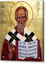 Saint Nicholas The Wonder Worker Acrylic Print by Joseph Malham