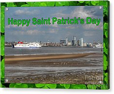 Saint Patrick's Greeting Across The Mersey Acrylic Print
