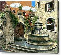 Saint Paul De Vence Fountain Acrylic Print