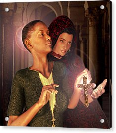 Acrylic Print featuring the painting Saint Perpetua And Felicity by Suzanne Silvir