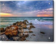 Saint Pete Beach Stormy Sunset Acrylic Print