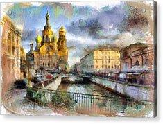 Saint Petersburg Church On Blood Acrylic Print