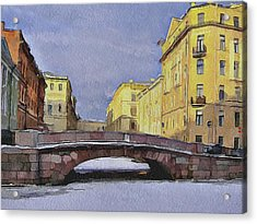 Saint Petersburg In Winter 2 Acrylic Print