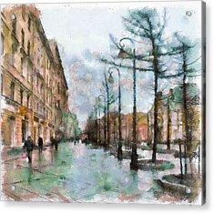 Saint Petersburg Rain Acrylic Print