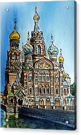 Saint Petersburg Russia The Church Of Our Savior On The Spilled Blood Acrylic Print