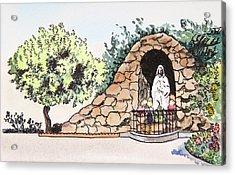 Saint Rosa Acrylic Print