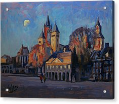 Saint Servaas Basilica In The Morning Acrylic Print