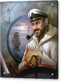 Saint Simons Island Sea Captain 1 Acrylic Print