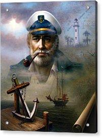Saint Simons Island Sea Captain 2 Acrylic Print