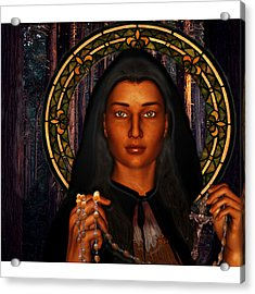 Saint Tekakwitha The Lily Of The Mohawks Acrylic Print