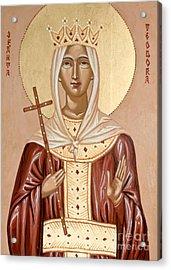 Saint Theodora Of Arta Acrylic Print by Olimpia - Hinamatsuri Barbu