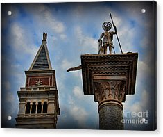 Saint Theodore Standing Guard Acrylic Print by Lee Dos Santos