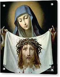Saint Veronica Acrylic Print by Guido Reni