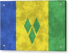 Saint Vincent And The Grenadines Flag Acrylic Print