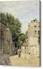 Saint-vincent Street, Montmartre Oil On Canvas Acrylic Print