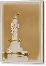 Acrylic Print featuring the photograph Saint With A Cross by Nadalyn Larsen