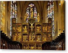 Sainte Croix - Kaysersberg France Acrylic Print by Brian Jannsen