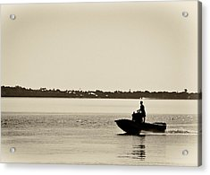 Saintlucieboating Acrylic Print by Patrick M Lynch