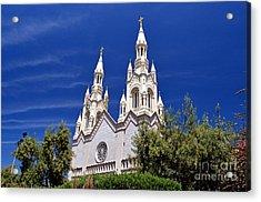 Saints Peter And Paul Church In San Francisco Acrylic Print by Jim Fitzpatrick